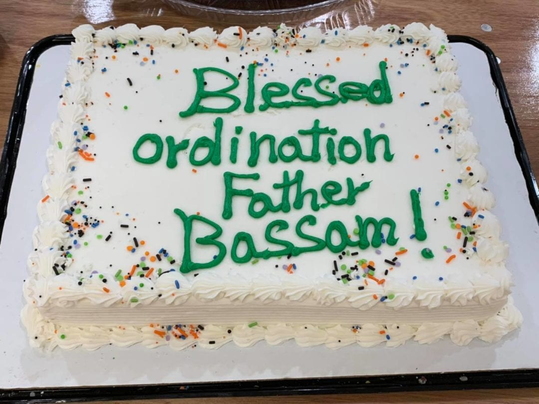 Sunday October 18, 2020 Celebrating 28th Anniversary of Father Bassam ordination